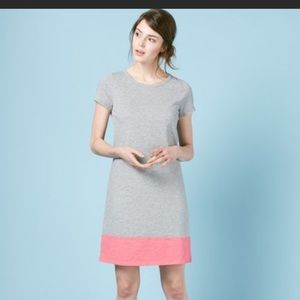 🔥Boden color-block tshirt dress gray coral